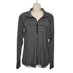 COLUMBIA striped 1/4 zip omni wick pullover top